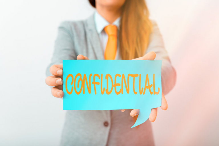 Writing note showing Confidential. Business photo showcasing containing an individualal information whose unauthorized disclosure Displaying different color mock up notes for emphasizing content.